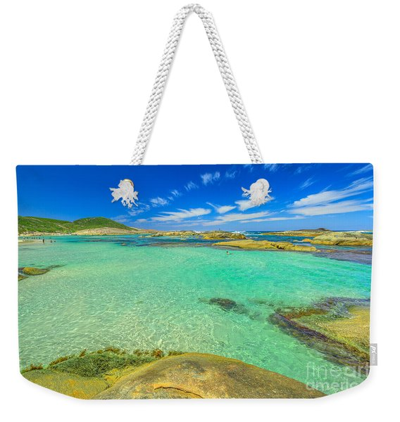 Weekender Tote Bag featuring the photograph Greens Pool Australia by Benny Marty