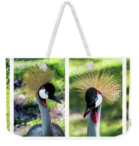 Grey Crowned Crane Gulf Shores Al Collage 1 Weekender Tote Bag