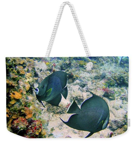 Grey Play Weekender Tote Bag