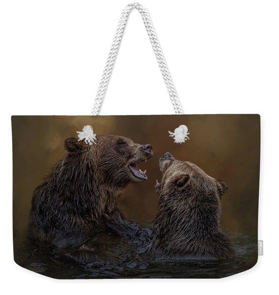 Grizzlies At Play Weekender Tote Bag