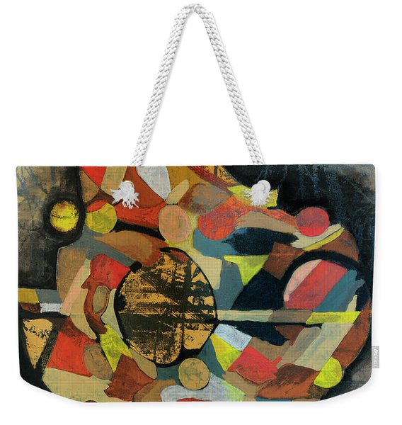 Weekender Tote Bag featuring the painting Grounded In Art by Mark Jordan