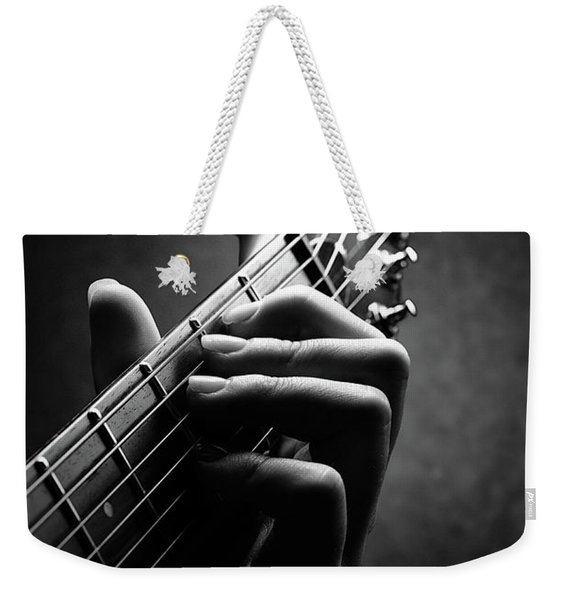 Guitarist Hand Close-up Weekender Tote Bag