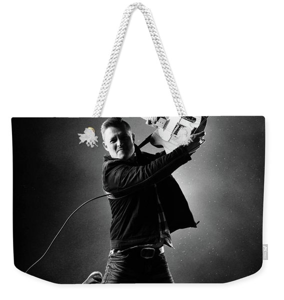 Guitarist Jumping High Weekender Tote Bag