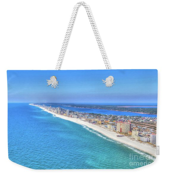 Gulf Shores Beaches 1335 Tonemapped Weekender Tote Bag
