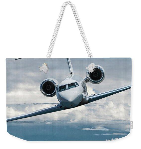 Gulfstream V Business Jet Weekender Tote Bag