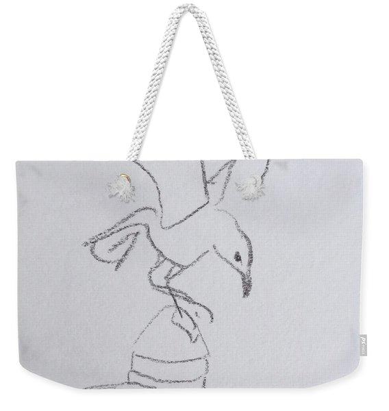 Gull On Pier Weekender Tote Bag