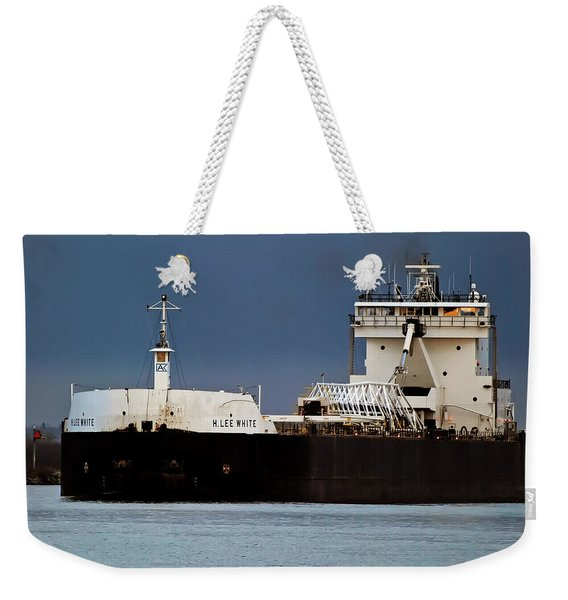 H Lee White Freighter Weekender Tote Bag