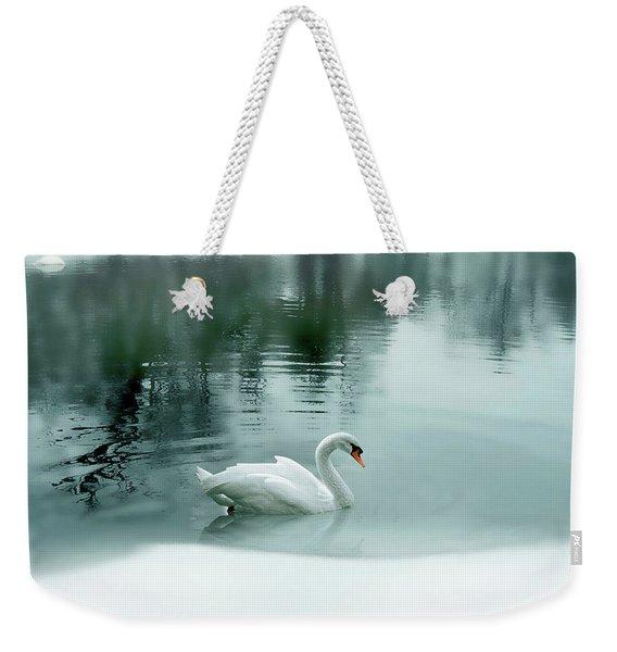 Cyan Winter Weekender Tote Bag