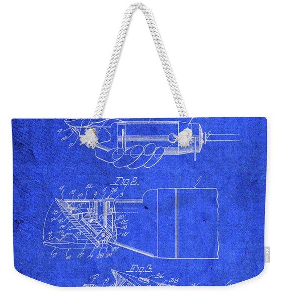 Hair Clippers Vintage Patent Blueprint Weekender Tote Bag