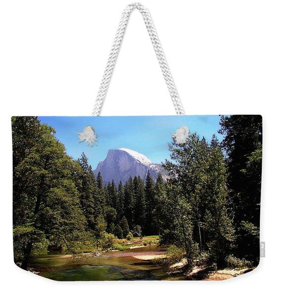 Half Dome From Ahwanee Bridge - Yosemite Weekender Tote Bag