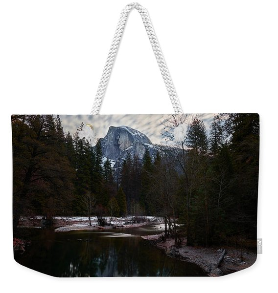 Half Dome Reflection Weekender Tote Bag