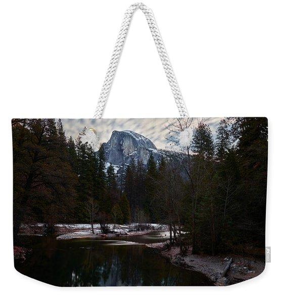 Half Dome Reflection Weekender Tote Bag