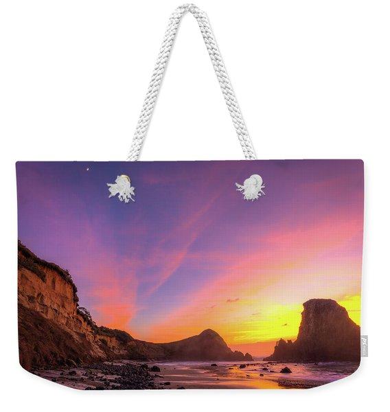 Half Moon Sunset Weekender Tote Bag