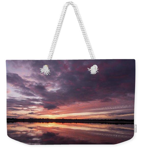 Halifax River Sunset Weekender Tote Bag