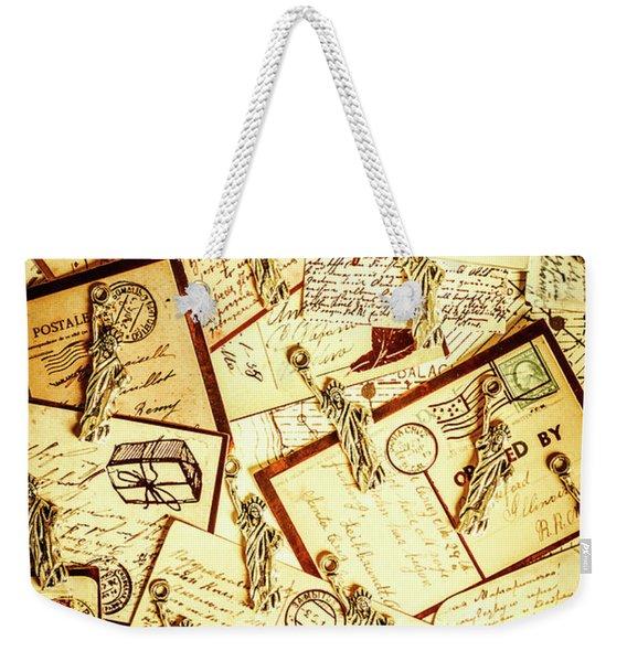 Hallmarks Of Travelling Old Weekender Tote Bag