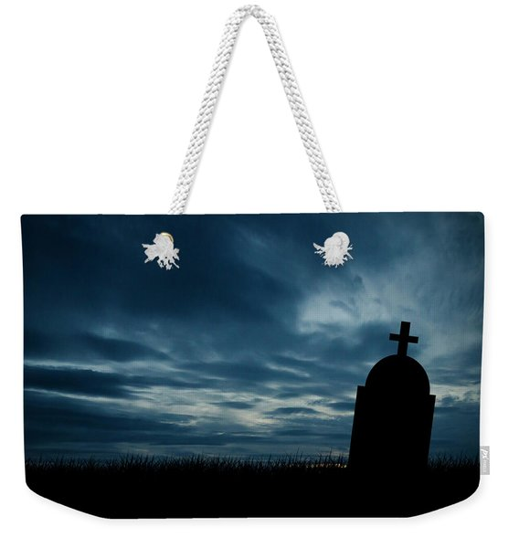 Halloween Graveyard Background Weekender Tote Bag