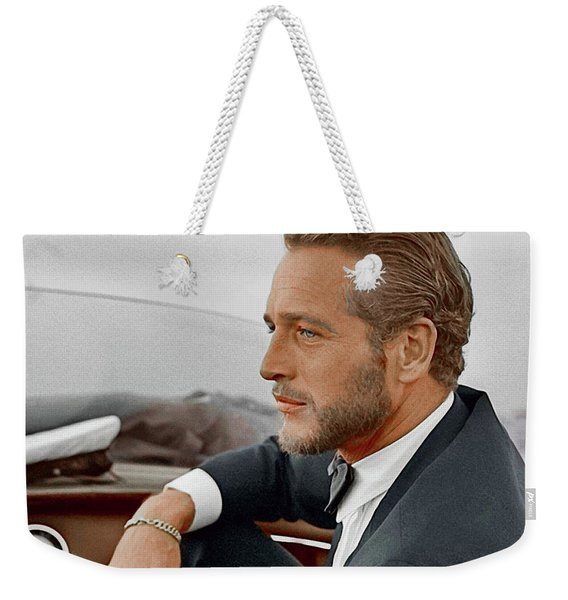 Hand Colored Picture Of Paul Newman Weekender Tote Bag