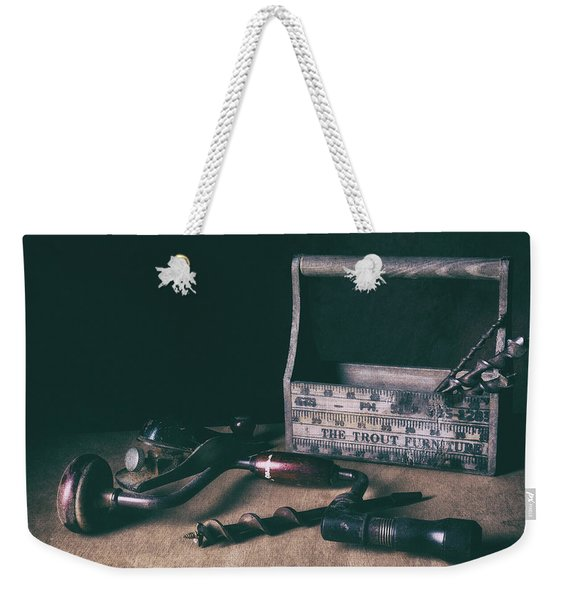 Hand Tools - Brace And Bits Weekender Tote Bag
