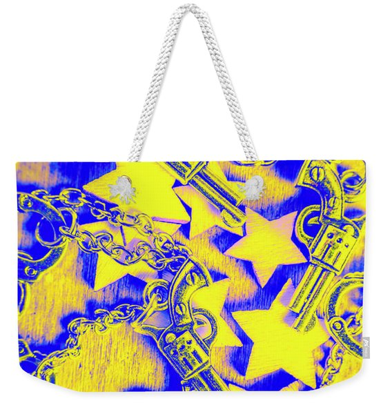 Handguns, Chains And Handcuffs Weekender Tote Bag