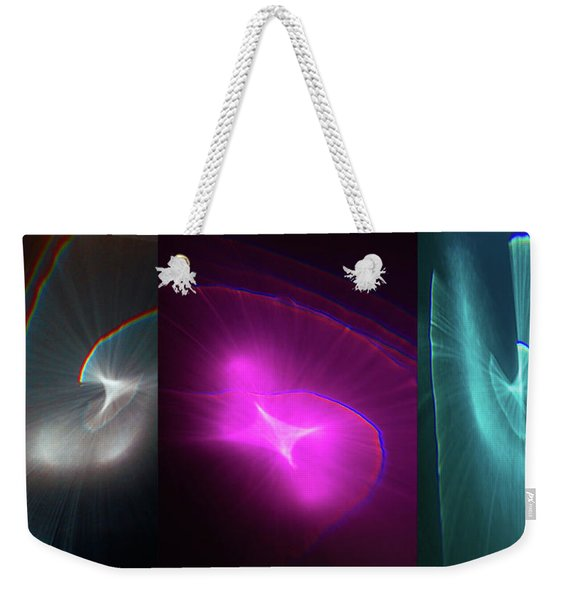 Happy Accident Triptych Weekender Tote Bag