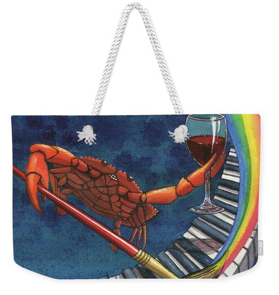 Happy Crab Weekender Tote Bag