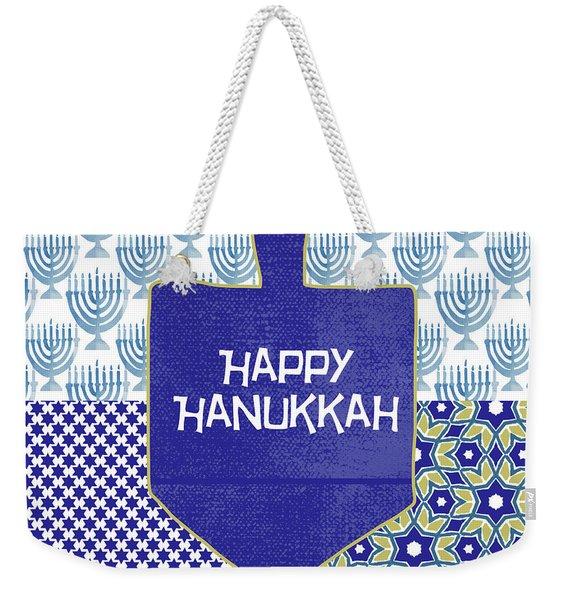 Happy Hanukkah Dreidel 1- Art By Linda Woods Weekender Tote Bag