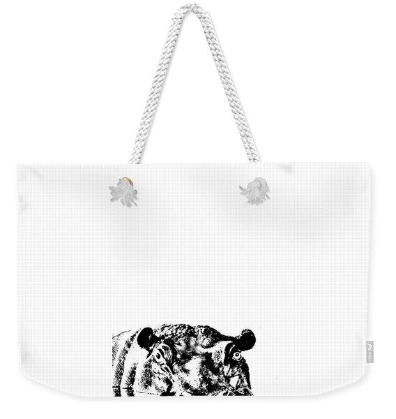 Happy Happy Hippo Weekender Tote Bag