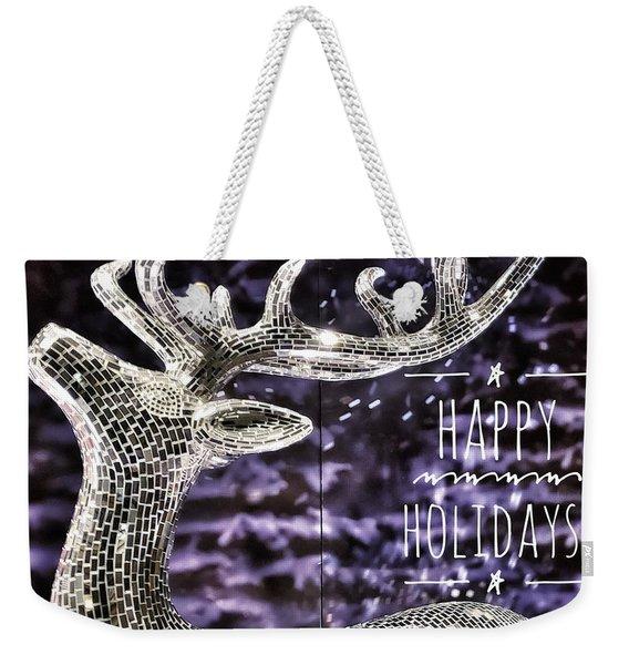 Happy Holiday Sparkle Weekender Tote Bag