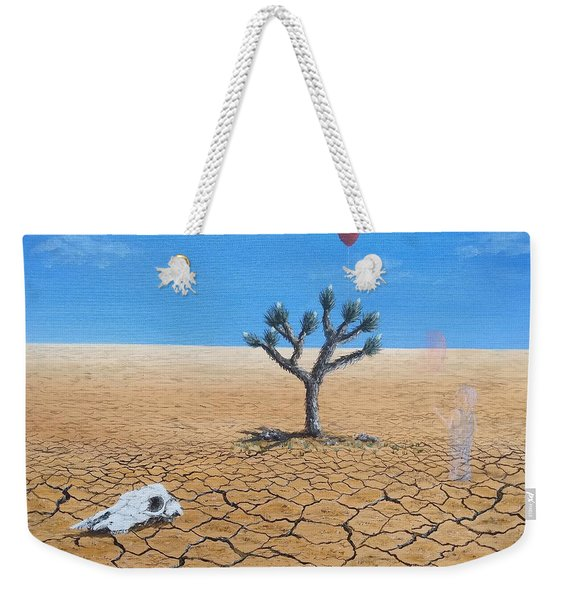 Weekender Tote Bag featuring the painting Happy Little Tree by Kevin Daly