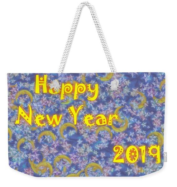 Happy New Year 2019 Weekender Tote Bag