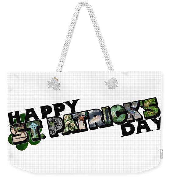Happy St. Patrick's Day Big Letter Weekender Tote Bag