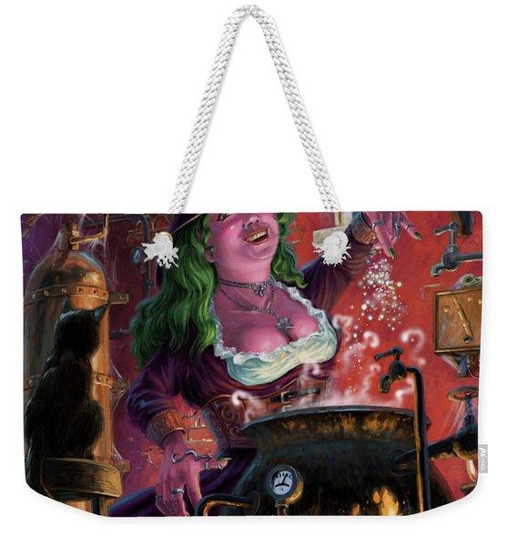 Happy Steam Punk Witch Weekender Tote Bag