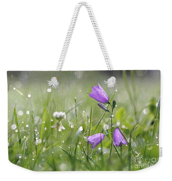 Harebells And Water Drops Weekender Tote Bag