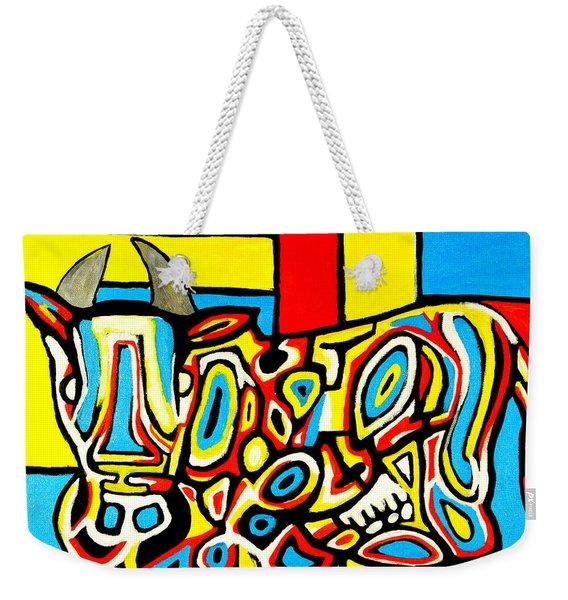 Haring's Cow Weekender Tote Bag