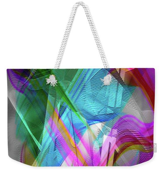 Weekender Tote Bag featuring the digital art Harp by Visual Artist Frank Bonilla