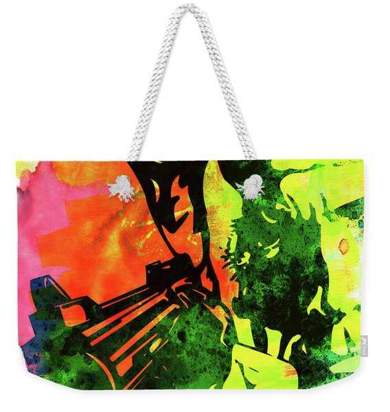 Harry With A Gun Watercolor I Weekender Tote Bag