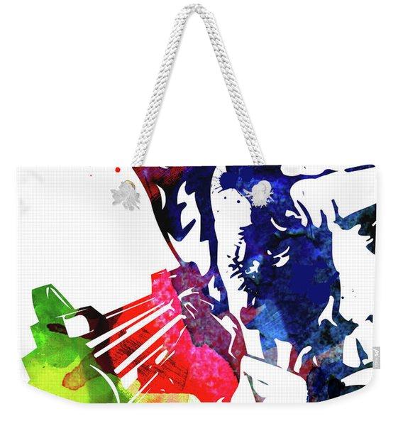 Harry With A Gun Watercolor II Weekender Tote Bag