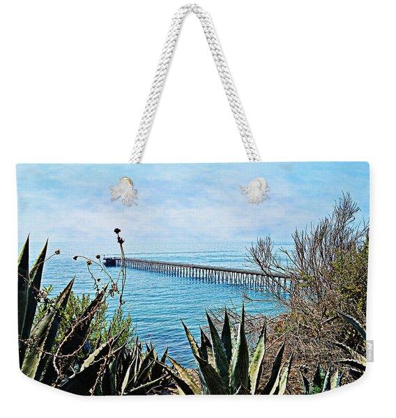Haskell Beach Pier Weekender Tote Bag