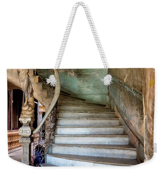Weekender Tote Bag featuring the photograph Havana Stairs by Tom Singleton