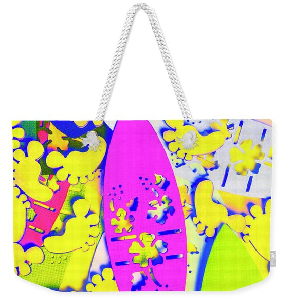 Hawaiian Design Weekender Tote Bag