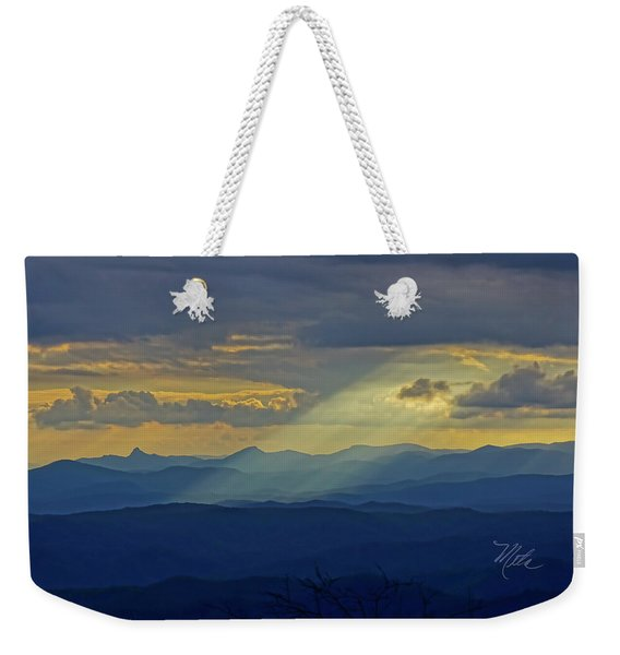 Hawks Bill Mountain Sunset Weekender Tote Bag