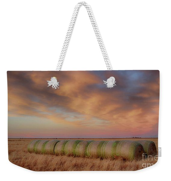 Hay Bales On The High Plains Weekender Tote Bag