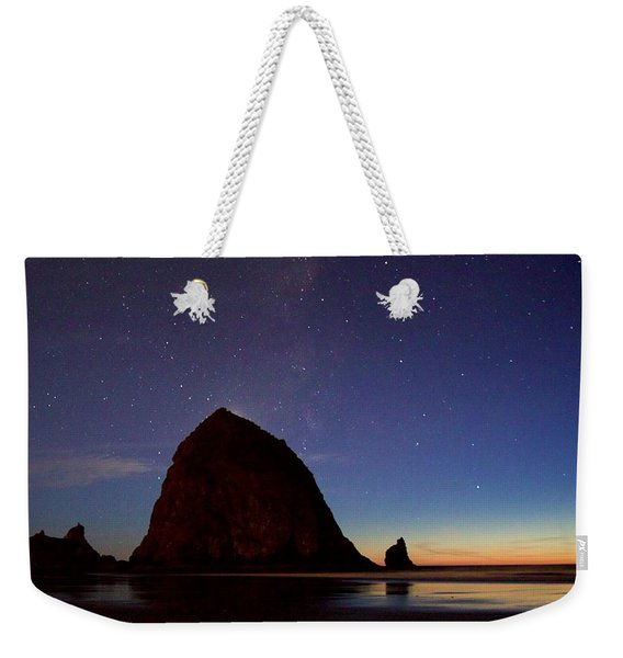 Haystack Night Sky Weekender Tote Bag