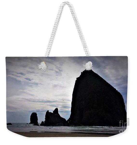 Haystack Rock Canon Beach Weekender Tote Bag