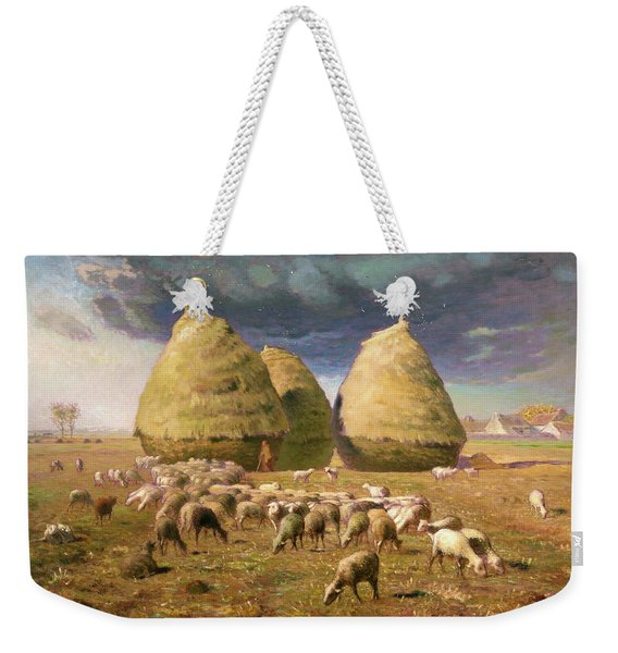 Haystacks, Autumn - Digital Remastered Edition Weekender Tote Bag