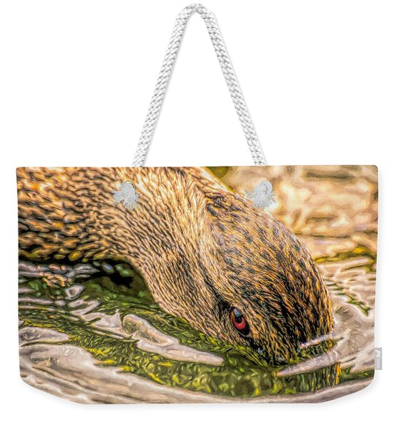 Head Dunking Duck Toned Weekender Tote Bag
