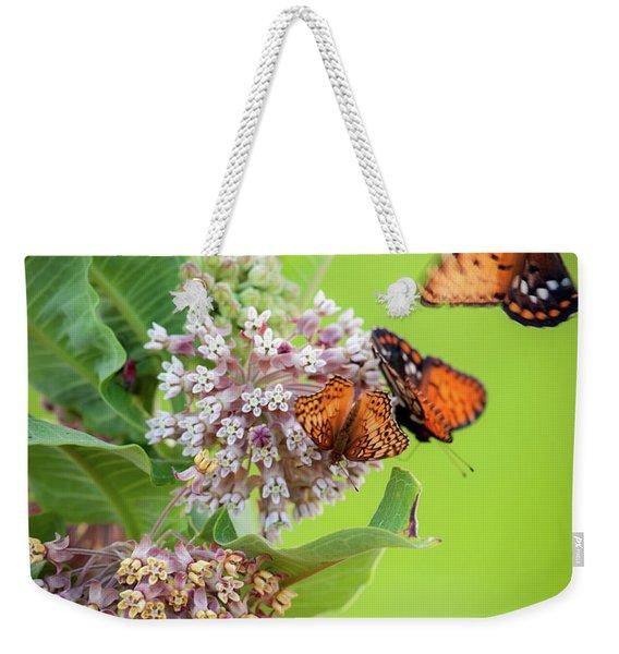 Head Over Heals For Milkweed Weekender Tote Bag