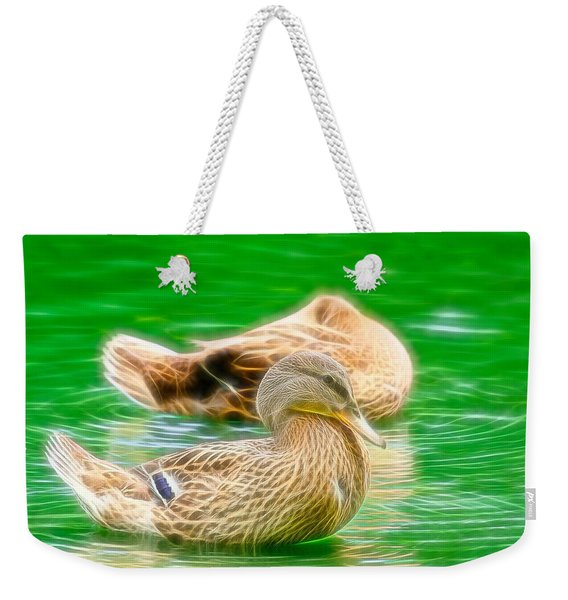 Headless Honey Duck Fibers Weekender Tote Bag