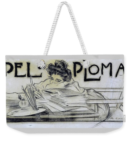 Headpiece For The Magazine 'pel And Ploma' - Digital Remastered Edition Weekender Tote Bag
