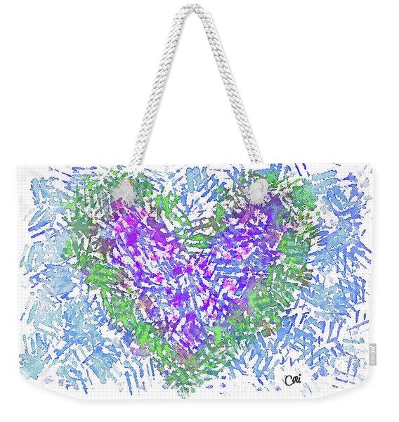 Heart 1008 Weekender Tote Bag